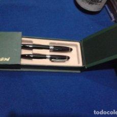 Estilográficas antiguas, bolígrafos y plumas: BOLIGRAFO Y PLUMA ( BELBOL ) EN CAJA DE CARTON SIN USO . Lote 132340066