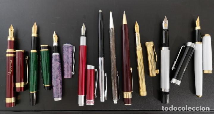Estilográficas antiguas, bolígrafos y plumas: Lote de 10 plumas y bolígrafos - Foto 2 - 133198970