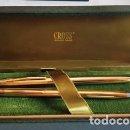 Estilográficas antiguas, bolígrafos y plumas: CONJUNTO DE PLUMA Y BOLIGRAFO CROSS - 1/20 DE 10 K. GOLD FILLED - NUEVO SIN USO -. Lote 133870834