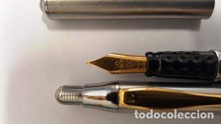 Estilográficas antiguas, bolígrafos y plumas: CONJUNTO DE PLUMA Y PORTA MINAS INOXCROM - 1/20 DE 14 K. GOLD FILLED - NUEVO SIN USO - - Foto 2 - 133871158