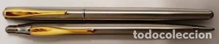 Estilográficas antiguas, bolígrafos y plumas: CONJUNTO DE PLUMA Y PORTA MINAS INOXCROM - 1/20 DE 14 K. GOLD FILLED - NUEVO SIN USO - - Foto 4 - 133871158