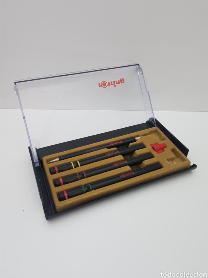 Estilográficas antiguas, bolígrafos y plumas: Lote rotring + 3 rotring + lapicera + Tinta - Foto 2 - 134900215