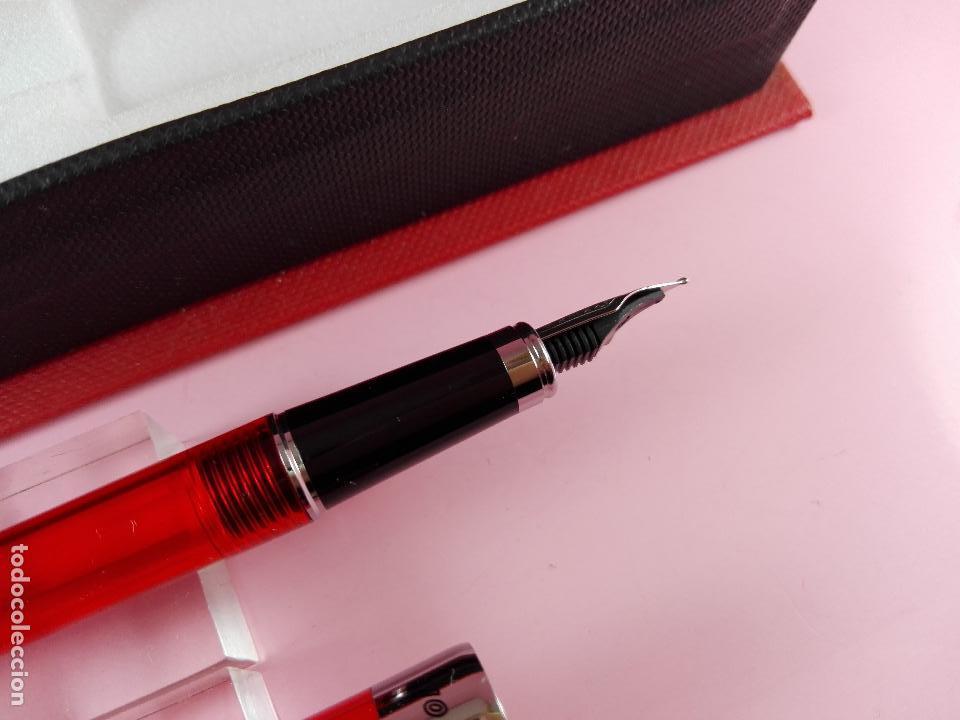 Estilográficas antiguas, bolígrafos y plumas: juego-bel bol-bolígrafo+portaminas-rojo translucent-nos-ver fotos - Foto 10 - 121387255