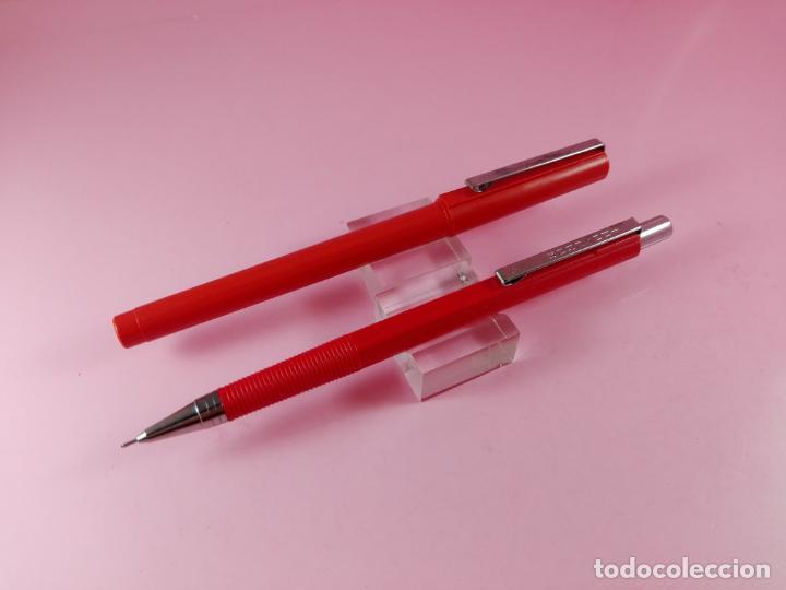 Estilográficas antiguas, bolígrafos y plumas: *9878-JUEGO-INOXCROM-ESPAÑA-ROLLER+PORTAMINAS-COLOR ROJO-DESCATALOGADO-BUEN ESTADO - Foto 4 - 136417190
