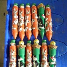 Estilográficas antiguas, bolígrafos y plumas: BOLIGRAFOS LOONEY TUNES FIGURAL PUZZLE PENS WARNER BROS 1998 APPLAUSE. Lote 138596042