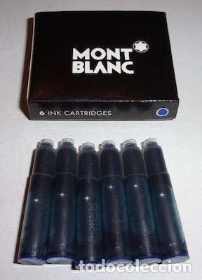 CAJA CON 6 CARTUCHOS DE TINTA AZUL MONT BLANC (Plumas Estilográficas, Bolígrafos y Plumillas - Juegos y Conjuntos)