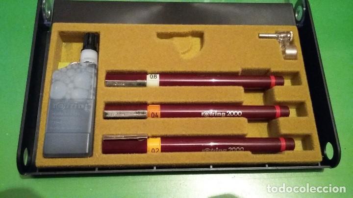 Estilográficas antiguas, bolígrafos y plumas: Rotring 2000 nuevo variant estilógrafos. Años 80. A estrenar - Foto 2 - 139128478