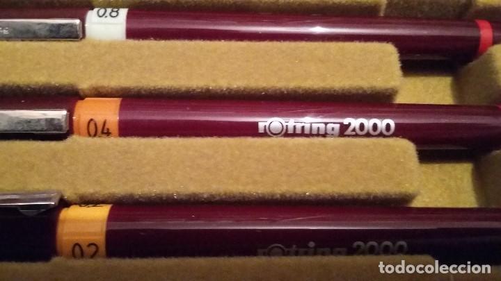 Estilográficas antiguas, bolígrafos y plumas: Rotring 2000 nuevo variant estilógrafos. Años 80. A estrenar - Foto 3 - 139128478