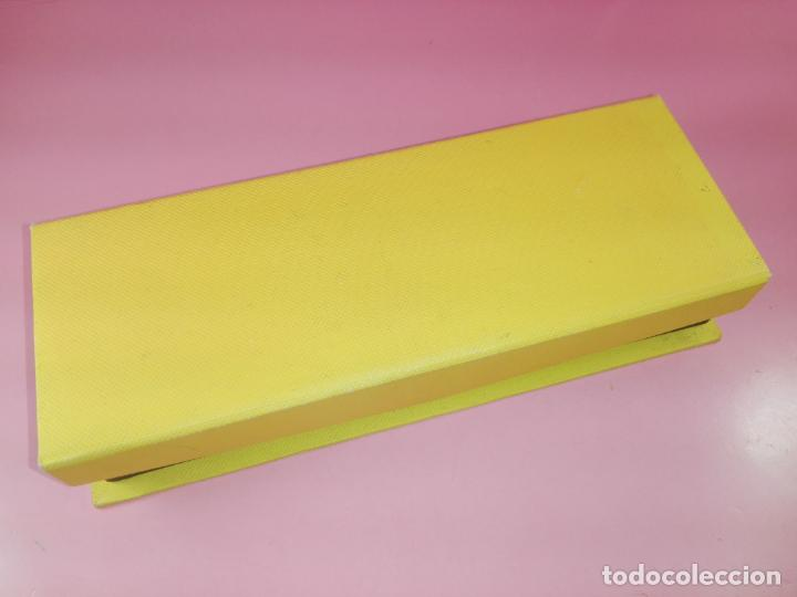 Estilográficas antiguas, bolígrafos y plumas: *9857-juego-bolígrafo+portaminas-bel bol-BURDEOS+PERLA-nuevo-caja-ver fotos - Foto 3 - 140403610