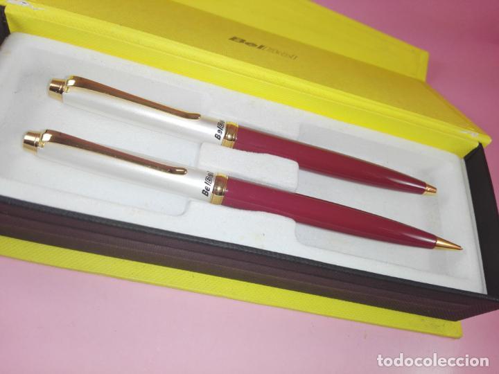 Estilográficas antiguas, bolígrafos y plumas: *9857-juego-bolígrafo+portaminas-bel bol-BURDEOS+PERLA-nuevo-caja-ver fotos - Foto 4 - 140403610