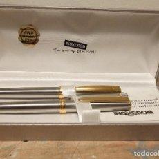 Estilográficas antiguas, bolígrafos y plumas: ESTUCHE PLUMA Y BOLIGRAFO INOXCROM. Lote 142186354