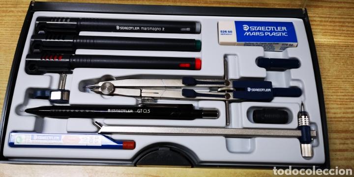 Estilográficas antiguas, bolígrafos y plumas: Staedtler Techniset marsmagno 2 con compàs nuevo - Foto 3 - 143712558