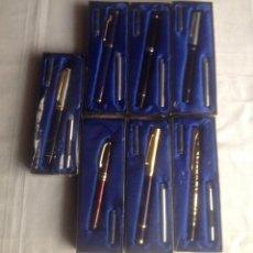 Estilográficas antiguas, bolígrafos y plumas: 7 PLUMAS ESTILOGRÁFICAS DE COLECCION. Lote 144002438