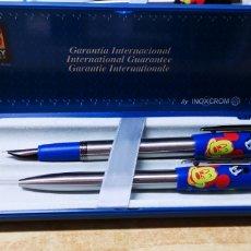 Estilográficas antiguas, bolígrafos y plumas: PLUMA Y BOLÍGRAFO INOXCROM MICKEY UNLIMITED. Lote 144252070