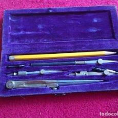 Estilográficas antiguas, bolígrafos y plumas: ANTIGUO JUEGO DE COMPASES. Lote 145392730