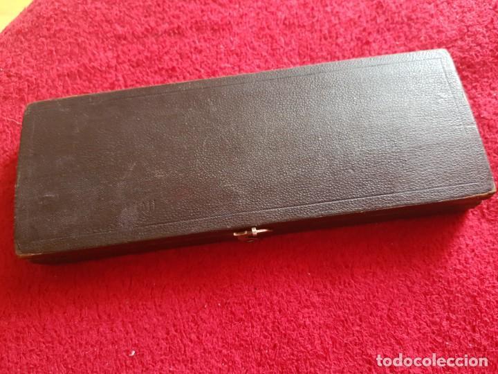 Estilográficas antiguas, bolígrafos y plumas: Antiguo juego de compases - Foto 5 - 145392730