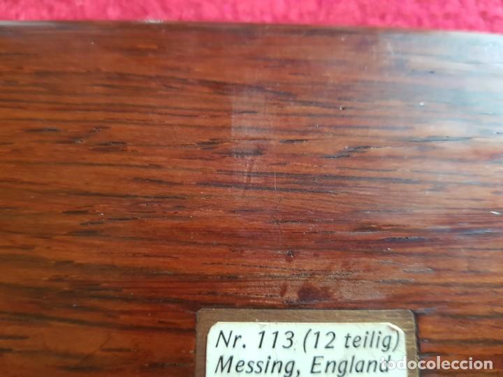 Estilográficas antiguas, bolígrafos y plumas: Antiguo conjunto de compases profesionale messing,england la pieza de mango blanco no esta a la vent - Foto 7 - 145394074