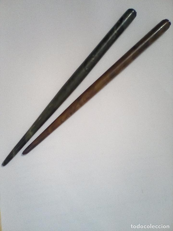 Estilográficas antiguas, bolígrafos y plumas: JUEGO DE 2 ESTILOGRAFICAS ANTIGUAS - Foto 2 - 145849206