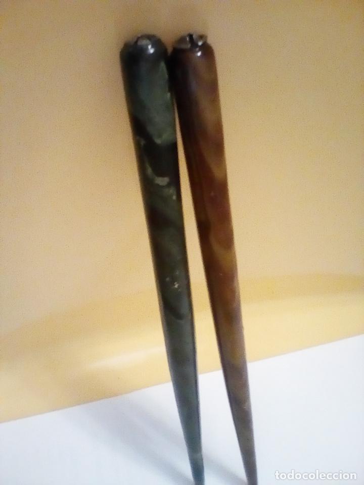 Estilográficas antiguas, bolígrafos y plumas: JUEGO DE 2 ESTILOGRAFICAS ANTIGUAS - Foto 6 - 145849206
