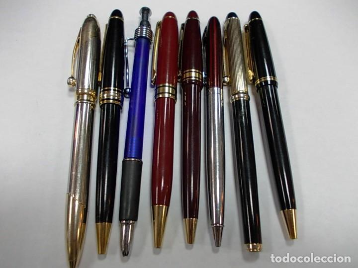 Estilográficas antiguas, bolígrafos y plumas: Lote de 8 boligrafos sin marca - Foto 2 - 146495634