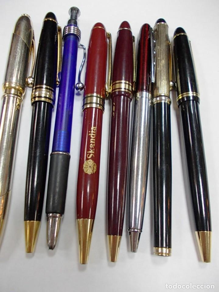Estilográficas antiguas, bolígrafos y plumas: Lote de 8 boligrafos sin marca - Foto 4 - 146495634