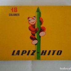 Estilográficas antiguas, bolígrafos y plumas: ESTUCHE DE PINTURAS DE 18 COLORES MARCA LAPIZ-HITO. ANTIGUO . NUEVO. --- 3. Lote 146765090