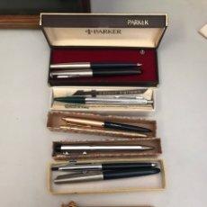 Estilográficas antiguas, bolígrafos y plumas: IMPORTANTE LOTE DE PLUMAS Y BOLÍGRAFOS ANTIGUOS. Lote 147021101