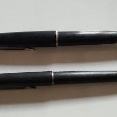 Estilográficas antiguas, bolígrafos y plumas: CONJUNTO ESTILOGRÁFICA Y LÁPIZ MONTBLANC. Lote 147559698