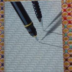 Estilográficas antiguas, bolígrafos y plumas: ROTRING COLLEGE SET DOS ESTILOGRAFOS, PORTAMINAS, MINAS Y GOMA DE BORRAR AÑOS 80. A ESTRENAR. Lote 147661082