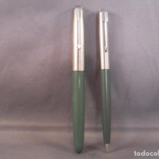 Estilográficas antiguas, bolígrafos y plumas: PARKER 51 DEMI PEN, GIRS ,1950'S Y LAPICERA. Lote 147671202
