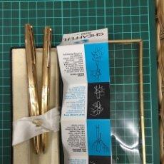 Estilográficas antiguas, bolígrafos y plumas - Set Sheaffer imperial pluma y bolígrafo dorado - 148145338