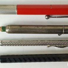 Estilográficas antiguas, bolígrafos y plumas: COLECCIÓN DE PLUMA Y PORTA MINAS. VARIOS MATERIALES. SIGLO XX. . Lote 163027316