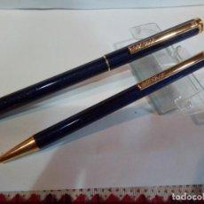 Estilográficas antiguas, bolígrafos y plumas: JUEGO DE PLUMA Y BOLIGRAFO. Lote 175181714