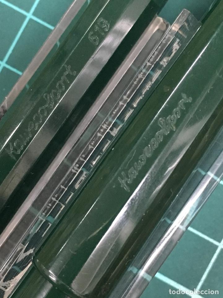 Estilográficas antiguas, bolígrafos y plumas: Set Kaweco Verde pluma V16N F + Bolígrafo 619 con funda. - Foto 2 - 148559309