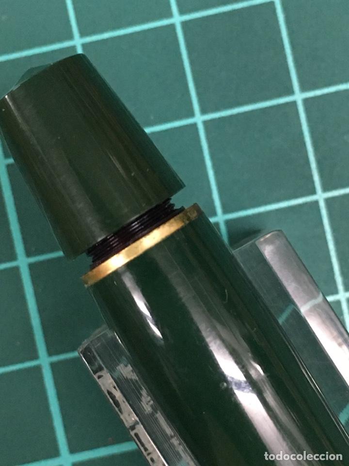 Estilográficas antiguas, bolígrafos y plumas: Set Kaweco Verde pluma V16N F + Bolígrafo 619 con funda. - Foto 10 - 148559309