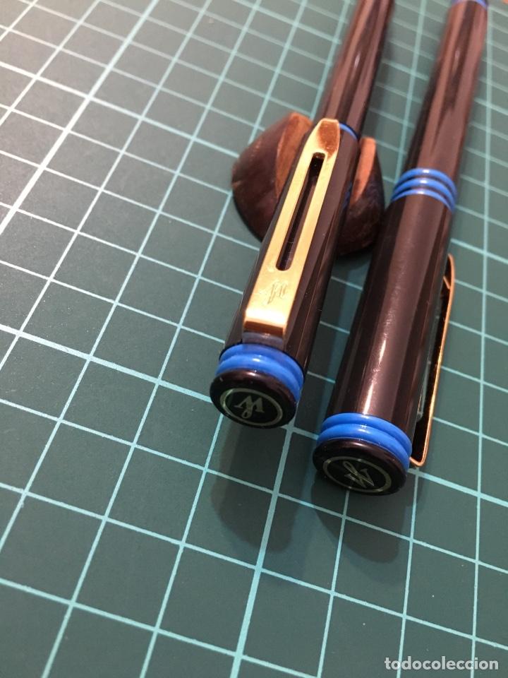 Estilográficas antiguas, bolígrafos y plumas: Waterman Forum Pluma + bolígrafo negro - Foto 4 - 150300498