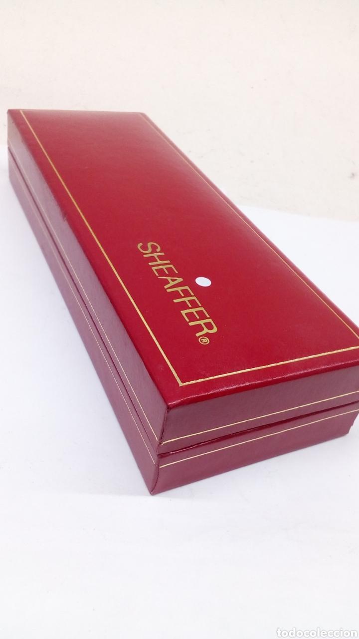 Estilográficas antiguas, bolígrafos y plumas: Juego Pluma y bolígrafo Sheffer lacado negro en su estuche gran calidad - Foto 4 - 152248022