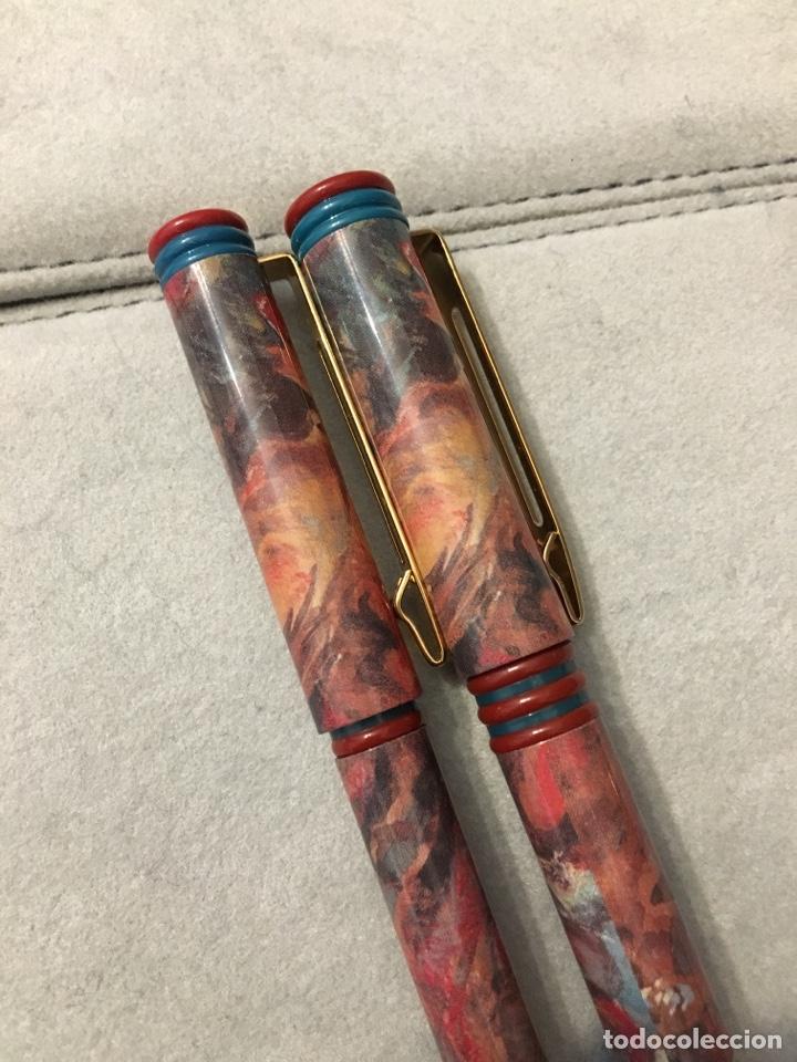 Estilográficas antiguas, bolígrafos y plumas: Pluma + bolígrafo waterman marmolado. - Foto 7 - 150682864