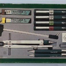 Estilográficas antiguas, bolígrafos y plumas: FABER CASTELL. CAJA ESTILOGRAFOS, COMPÁS Y PORTAMINAS. REF: YS 1992. NUEVA Y COMPLETA.. Lote 151580698