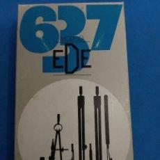 Estilográficas antiguas, bolígrafos y plumas: ESTUCHE DE COMPAS MARCA EDE 637 , AÑOS 1970. Lote 152128282