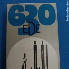 Estilográficas antiguas, bolígrafos y plumas: ESTUCHE DE COMPAS , MARCA EDE 630 ,AÑOS 1970. Lote 152130712