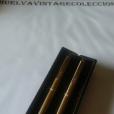 Estilográficas antiguas, bolígrafos y plumas: ESTUCHE PAPERMATE, CON BOLÍGRAFO Y PORTAMINAS.. Lote 153536581