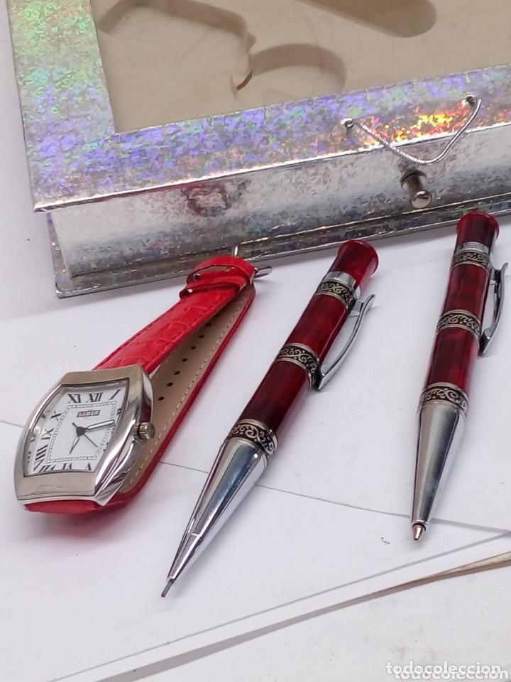Estilográficas antiguas, bolígrafos y plumas: juego samer de reloj,boligrafo,portaminas y llavero - Foto 4 - 155139818