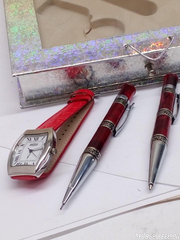 Estilográficas antiguas, bolígrafos y plumas: juego samer de reloj,boligrafo,portaminas y llavero - Foto 5 - 155139818