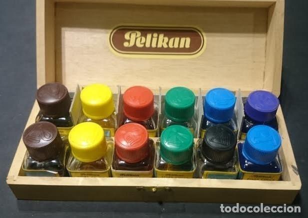 Estilográficas antiguas, bolígrafos y plumas: Juego de plumillas marca Pelikan Graphos en estuche, completo y con juego de tintas en caja - Foto 4 - 155648614
