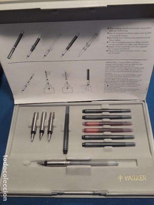 Estilográficas antiguas, bolígrafos y plumas: ESTUCHE 4 PLUMILLAS PARKER ORIGINALES THE CALLIGRAPHY SET - Foto 4 - 155677226
