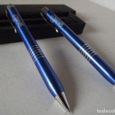 Estilográficas antiguas, bolígrafos y plumas: ESTUCHE CON BOLÍGRAFO Y PORTAMINAS. Lote 155778646