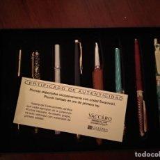 Estilográficas antiguas, bolígrafos y plumas: 7 PLUMAS VACCARO CON SWAROVSKI SIN ESTRENAR. Lote 155976630
