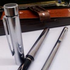Estilográficas antiguas, bolígrafos y plumas: JUEGO BOLIGRAFO Y PLUMA SHEAFFER TARGA CUERPO ACERO. Lote 156300192