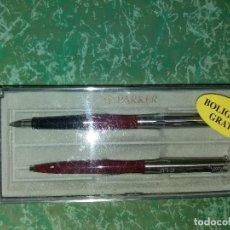 Estilográficas antiguas, bolígrafos y plumas: JUEGO PLUMA Y BOLÍGRAFO * PARKER *. Lote 158268094
